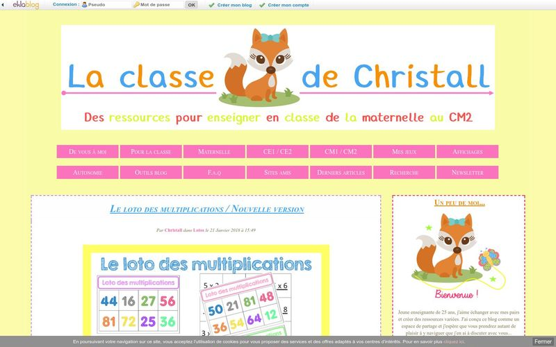 Le loto des multiplications / Nouvelle version - Christall'Ecole